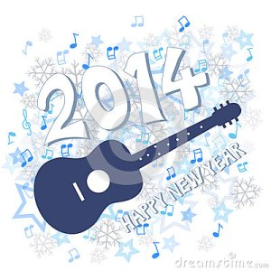 new-year-blue-guitar-illustration-34680838